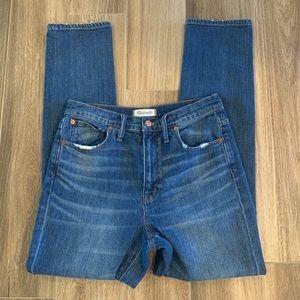 Madewell high rise slim boyfriend jeans size 27